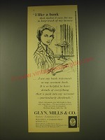 1963 Glyn, Mills & Co. Ad - I like a bank that makes it easy for me