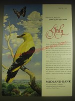 1963 Midland Bank Ad - Golden Oriole and Purple Emperor Butterfly