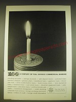 1963 Foundation for Commercial Banks Ad - A century of full service