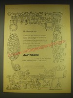 1963 Air-India Airline Ad - The Maharajah says