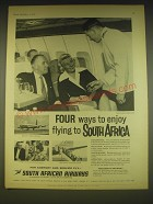 1963 South African Airways Advertisement - Four ways to enjoy flying