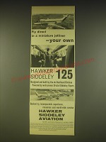 1963 Hawker Siddeley de Havilland 125 Jetliner Ad - Fly direct