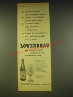1963 Lowenbrau Beer Ad - Executive who faces an afternoon of important decisions