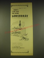 1963 Lowenbrau Beer Ad - Looking for a new gift idea? There's a big case