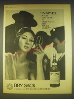 1963 Williams & Humbert Dry Sack Sherry Ad - In Spain, what matters is drinking