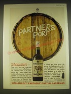 1963 Sandeman Partners' Port Ad - The Partners Claimed it