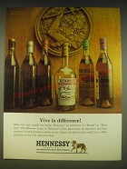 1963 Hennessy Cognac Ad - Vive la difference