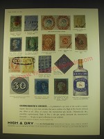 1963 Booth's High & Dry gin Advertisement - Connoisseur's choice