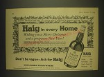 1963 Haig Scotch Ad - More people enjoy it - that's why it's Britain's largest