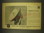 1963 London and Lancashire Insurance Advertisement - the Goonhilly Aerial