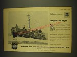 1963 London and Lancashire Insurance Ad - Designed for its job The Lifeboat