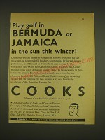 1963 Cooks Travel Agents Ad - Play golf in Bermuda or Jamaica in the sun