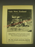 1963 The New Zealand Shipping Company Ad - Fishing the Modern Way