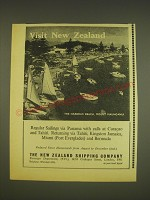 1963 The New Zealand Shipping Company Ad - The Harbour Beach, Mount Maunganui
