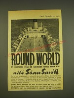 1963 Shaw Savill Line Ad - Round the world by northern star or southern cross