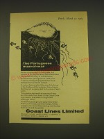 1963 Coast Lines Limited Ad - The portuguese man-of-war