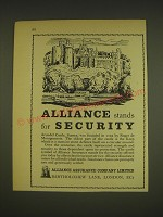 1963 Alliance Assurance Ad - Arundel Castle - Alliance stands for Security