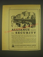 1963 Alliance Assurance Ad - Castle Rushen  - Alliance stands for Security