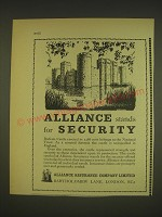 1963 Alliance Assurance Ad - Bodiam Castle - Alliance stands for Security