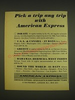 1963 American Express Advertisement - Pick a trip any trip with American Express
