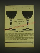 1963 Dow's Port Ad - They serve very good port at Quaglino's