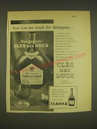 1963 Armagnac Cles des Ducs Brandy Ad - Now you are ready for Armagnac