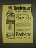 1963 Beefeater Gin Ad - Beefeater the world famous gin now with a new look