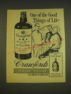 1963 Crawford's Scotch Advertisement - One of the good things