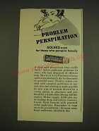 1963 Mitchum Anti-Perspirant Ad - Problem perspiration solved