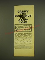 1963 American Express Travellers' Cheques Ad - Carry the currency you can't lose