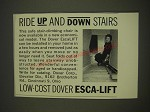 1963 Dover Esca-Lift Stair climbing Chair Ad - Ride up and down stairs