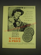 1955 McVitie & Price Digestive Sweet Meal Biscuits Ad - and we mustn't forget