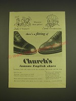 1955 Church's Messenger and Diplomat Shoes Ad - Wherever there gathers a halo