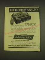 1955 Grundig Stenorette Dictating Machine Ad - New efficiency - and new low cost