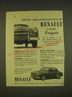 1955 Renault 2-Litre Fregate Ad - Still finer engine performance