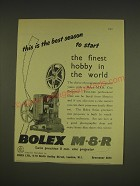 1955 Bolex M8R Projector Ad - This is the best season to start the finest hobby