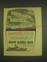 1955 Shaw Savill Line Ad - South Africa Australia New Zealand