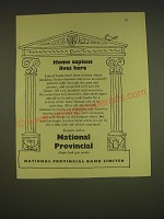 1955 National Provincial Bank Limited Ad - Homo sapiens lives here