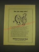 1955 National Provincial Bank Limited Ad - Does your money smile?