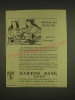 1955 Martins Bank Ad - Banking and your job.. I'm in catering