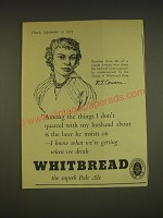 1955 Whitbread Pale Ale Ad - Drawing from life of a young woman who shares
