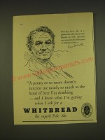 1955 Whitbread Pale Ale Ad - Drawing from life of a gentleman who chooses