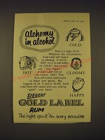 1955 Siegert Gold Label Rum Ad - Alchemy in alcohol