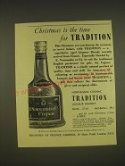 1955 Normandin Tradition Liqueur Brandy Ad - Christmas is the time for Tradition