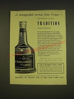 1955 Normandin Tradition Liqueur Brandy Ad - A distinguished arrival from France