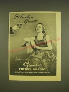 1955 Grant's Cherry Brandy Ad - It's lovely - Grant's