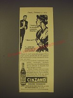 1955 Cinzano Vermouth Ad - You're in excellent company, Charles