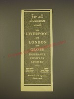 1955 The Liverpool and London and Globe Insurance Ad - For all insurance needs
