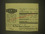 1955 Eccles Caravans Ad - Eccles have pleasure in announcing their range