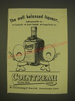 1955 Cointreau Liqueur Advertisement - The well balanced liqueur